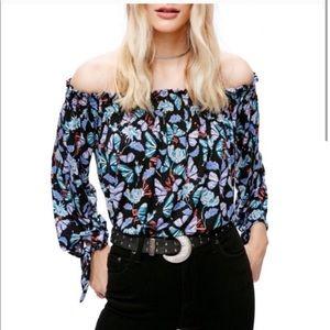 Free People off shoulder Lexington blouse